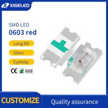 Cuentas de lámpara de alto brillo SMD LED 0603