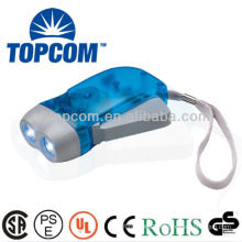 plastic 2 led hand press dynamo flashlight torch TP-318B