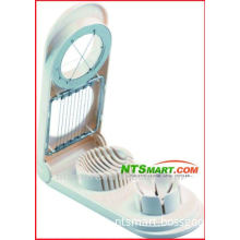 plastic & S/S 2 in 1 egg slicer