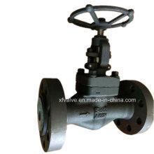 API602 1500lb forjó la válvula del globo del extremo del reborde del acero de carbono A105