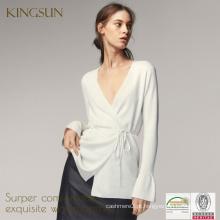 Mistura de lã e seda, Casaco de noiva para meninas, Casaco de outono Kint