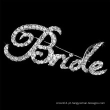 """Rhinestone """"BRIDE"""" Broche de moda"""