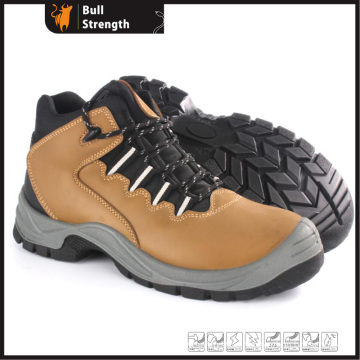 PU/PU Outsole Insulative Industrial Safety Shoe with Nubuck Leather (SN5382)