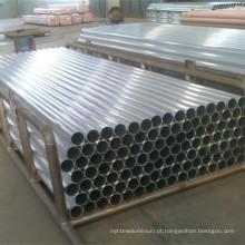 Tubo de alumínio de superfície lisa leve para batom