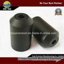 Peças feitas à máquina plásticas do CNC, peças giradas CNC para Delrin preto
