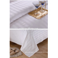 """110"""" wide White poly cotton sateen stripe fabric for bedding"""