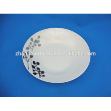 Cheap porcelain soup plate with black design