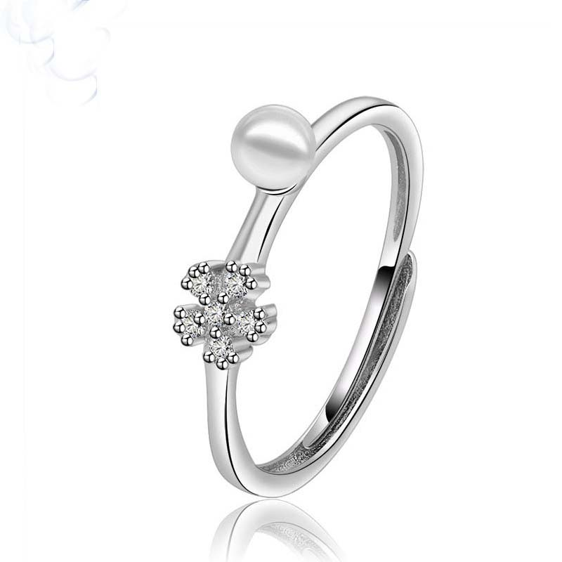 New Design Imitation White Pearl Finger Ring