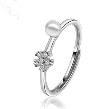 Ny Design Imitation White Pearl Finger Ring