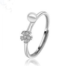 Cincin jari putih reka bentuk tiruan baru
