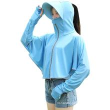 Ladies Upf50+ UV Protection Long Sleeve Thumb Hole Jacket