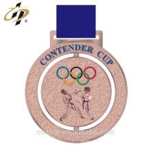 Muere el bronce antiguo de la aleación del cinc del corte de colada hecho propias medallas del diseño
