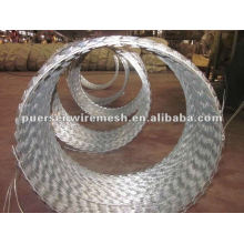 safety galvanized Razor wire for fence