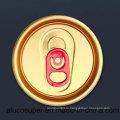 200 # 50мм Красная вкладка Сот алюминиевые крышки