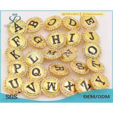 Nuevo botón de broche de letra, botón de encaje de ropa de oro