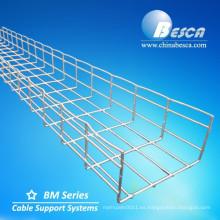 Electro galvanizado galvanizado estándar de la bandeja de cable de alambre