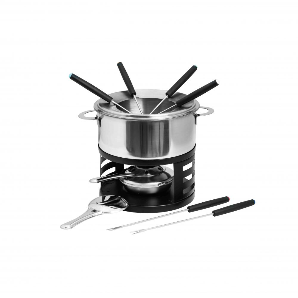stainless steel fondue set