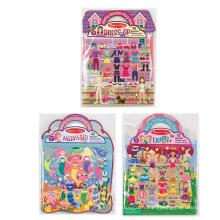Tampons d'autocollants gonflables réutilisables personnalisés de princesse créative Fairy