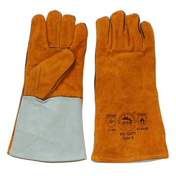 Cowhide Split Leather Safety Protective Welding Gloves