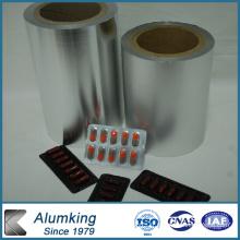 Feuillet en aluminium hydrophile pour feuilletes pharmaceutiques