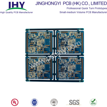Immersion PCB à 8 couches, bleu doré FR4