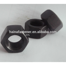 Stainless Steel Black Hexagonal Nut M10,S316