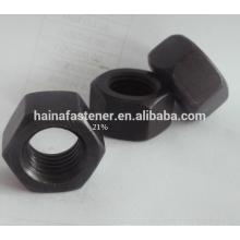 Нержавеющая сталь Черная шестигранная гайка M10, S316