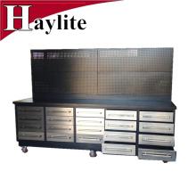 banco de trabajo de cajón de acero inoxidable resistente