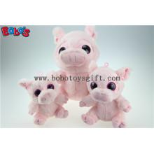 Novo Design Plush brinquedo de porco rosa Stuffed com olhos grandes Bos1168