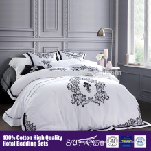 2017 High quality Hotel Home textile Embroidery Flower Pattern Bedding Set