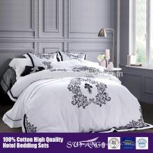 2017 высокого качества отель домашний текстиль вышивка Цветочный узор постельных принадлежностей