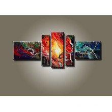 Cheap Leasted Canvas Abstract Oil Painting