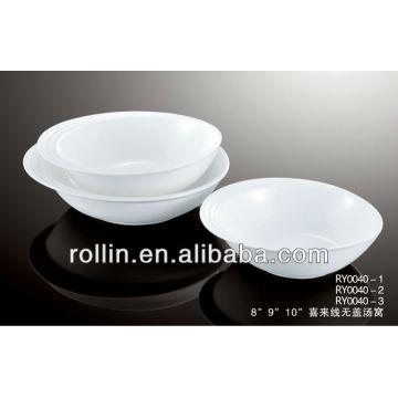 """2014 new design happy line big round ceramic bowl 8"""" 9"""" 10"""""""