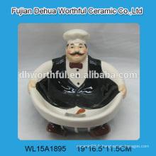 Bol en céramique créatif en forme de chef en haute qualité