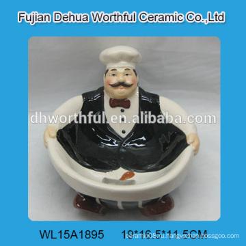 Творческая керамическая чаша в форме шеф-повара в высоком качестве