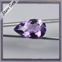 Средне-фиолетовый слезоточивый падение природный Аметист полу драгоценный камень