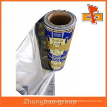 La impresión impresa de alta calidad sachet embalaje rollos de película de laminado en guangzhou