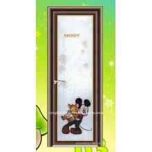 porta de alumínio de porta de banheiro articulada vertical KKD-075