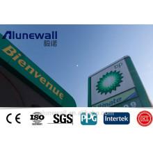 fortschrittliches Konstruktionsmaterial FEVE / PVDF / PE Beschichtung Alucobond Preis Aluminium-Verbundplatte