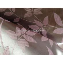 2016 nouvelle arrivée 100% polyester Large Jacquard Leaf waves design Tissu Blackout pour fenêtre