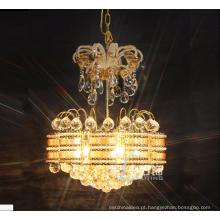 Luzes pequenas do pendente do candelabro do cristal do tamanho K9 do projeto simples com preço de fábrica