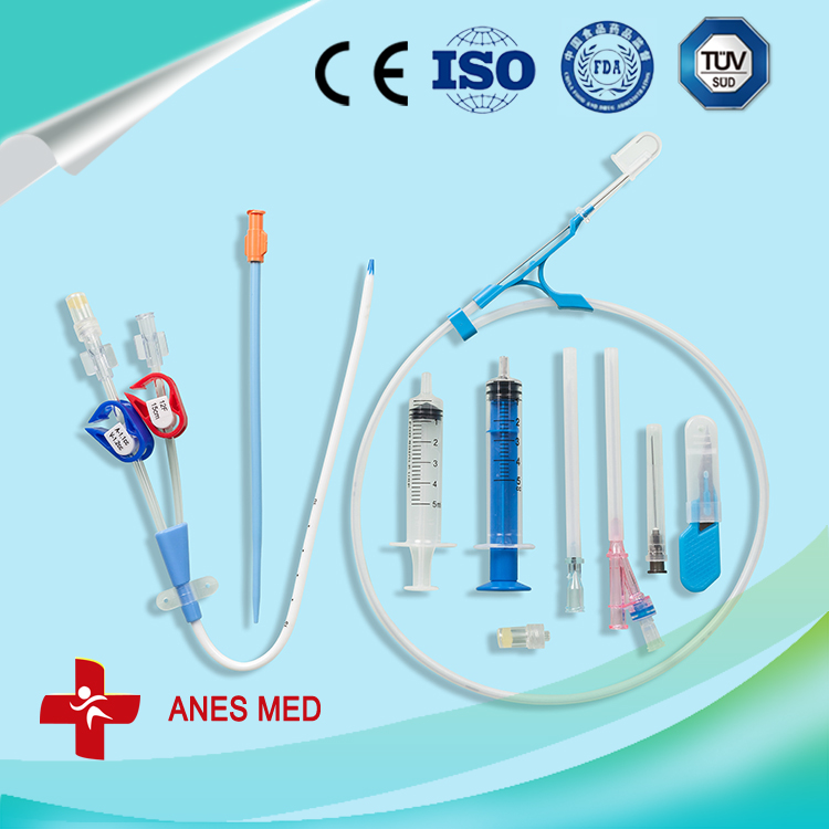 Double Lume hemodialysis catheter kit