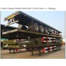 3axles 60tons chargement capacité conteneur remorque