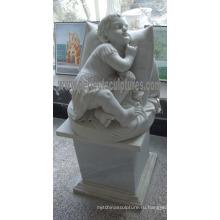Сад Мраморная статуя для сада Каменная скульптура (SY-X0155)