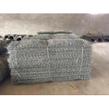 Gabion galvanizado e revestido de PVC