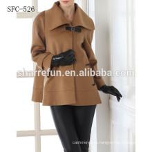 nuevo diseño de abrigos de lana pura mujer