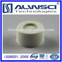 24-400 White PP Cap Schraubenseite mit PTFE Silikon Septa