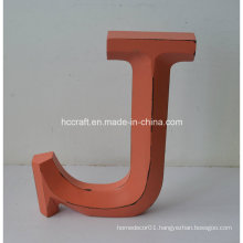 Wooden Craft Letters in Folk Craft for Home Decoration