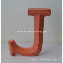 Artesanato de madeira letras em artesanato popular para decoração de casa