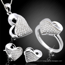 Fashion Micro Pave 925 Sterling Silver Jewelry Set (YS-2124)
